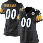 Camisetas NFL Mujer Hombre Pittsburgh Steelers Personalizada Negro
