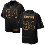 Camiseta Houston Texans Erving Negro 2016 Nike Elite Pro Line Gold NFL Hombre