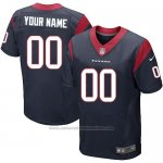 Camisetas NFL Elite Hombre Houston Texans Personalizada Azul