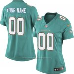 Camisetas NFL Limited Mujer Miami Dolphins Personalizada Verde