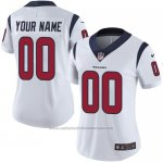 Camisetas NFL Mujer Houston Texans Personalizada Blanco