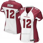 Camiseta Arizona Cardinals Brown Blanco Rojo Nike Game NFL Mujer