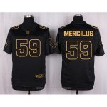 Camiseta Houston Texans Mercilus Negro Nike Elite Pro Line Gold NFL Hombre