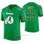 Camiseta NFL Limited Hombre Washington Redskins Zach Brown St. Patrick's Day Verde