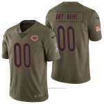 Camiseta NFL Limited Chicago Bears Personalizada 2017 Salute To Service Verde