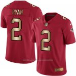 Camiseta Atlanta Falcons Ryan Rojo Nike Gold Legend NFL Hombre