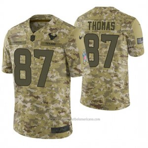 Camiseta NFL Limited Hombre Houston Texans Demaryius Thomas Camuflaje 2018 Salute To Service