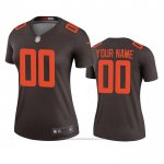 Camiseta NFL Legend Mujer Cleveland Browns Personalizada Alterno 2020 Marron