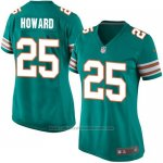 Camiseta Miami Dolphins Howard Verde Oscuro Nike Game NFL Mujer