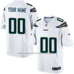Camisetas NFL Limited Los Angeles Chargers Personalizada Blanco