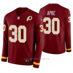Camiseta NFL Hombre Washington Redskins Troy Apke Burgundy Therma Manga Larga