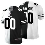 Camiseta NFL Limited Cleveland Browns Personalizada White Black Split