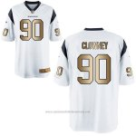 Camiseta Houston Texans Clowney Blanco Nike Gold Game NFL Hombre