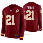Camiseta NFL Hombre Washington Redskins Sean Taylor Burgundy Therma Manga Larga