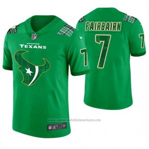 Camiseta NFL Limited Hombre Houston Texans Ka'imi Fairbairn St. Patrick's Day Verde