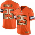 Camiseta Denver Broncos Harris Jr Naranja Nike Gold Legend NFL Hombre