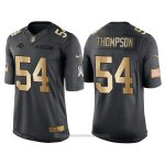 Camiseta Carolina Panthers Thompson Negro 2016 Nike Gold Anthracite Salute To Service NFL Hombre