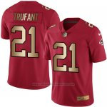Camiseta Atlanta Falcons Trufant Rojo Nike Gold Legend NFL Hombre