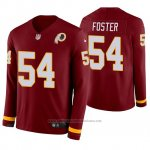 Camiseta NFL Hombre Washington Redskins Mason Foster Burgundy Therma Manga Larga