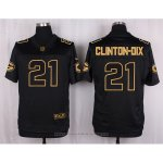 Camiseta Green Bay Packers Clinton-Dix Negro Nike Elite Pro Line Gold NFL Hombre
