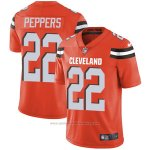Camiseta NFL Limited Hombre 22 Peppers Cleveland Browns Naranja