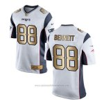 Camiseta New England Patriots Bennett Blanco Nike Gold Game NFL Hombre