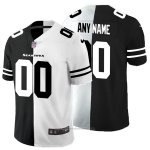 Camiseta NFL Limited Seattle Seahawks Personalizada Black White Split
