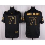 Camiseta Washington Redskins Williams Negro Nike Elite Pro Line Gold NFL Hombre