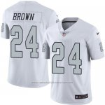 Camiseta Oakland Raiders Brown Blanco Nike Legend NFL Hombre2