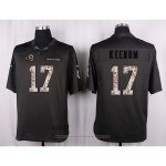 Camiseta Los Angles Rams Keenum Apagado Gris Nike Anthracite Salute To Service NFL Hombre