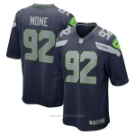 Camiseta NFL Game Seattle Seahawks Bryan Mone Azul