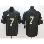 Camiseta NFL Anthracite Hombre Cleveland Browns 7 Kizer Negro