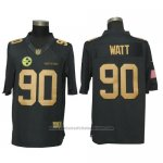 Camiseta NFL Gold Limited Hombre Pittsburgh Steelers 90 Watt Negro