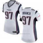Camiseta New England Patriots Branch Blanco Nike Game NFL Mujer