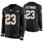 Camiseta NFL Hombre New Orleans Saints Marshon Lattimore Negro Therma Manga Larga