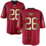 Camiseta Houston Texans Miller Rojo Nike Gold Game NFL Hombre