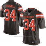 Camiseta Cleveland Browns Crowell Marron Nike Game NFL Hombre