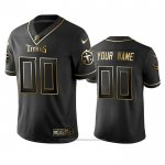 Camiseta NFL Limited Tennessee Titans Personalizada Golden Edition Negro