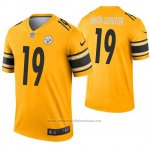 Camiseta NFL Legend Pittsburgh Steelers 19 Juju Smith Schuster Inverted Oro