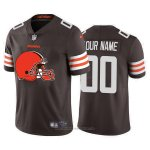 Camiseta NFL Limited Cleveland Browns Personalizada Big Logo Marron