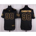 Camiseta Washington Redskins Knighton Negro Nike Elite Pro Line Gold NFL Hombre